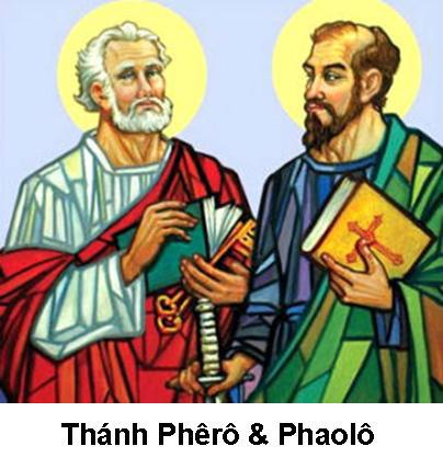 Ngày 29/06: LỄ THÁNH PHÊRÔ VÀ THÁNH PHAOLÔ, TÔNG ĐỒ
